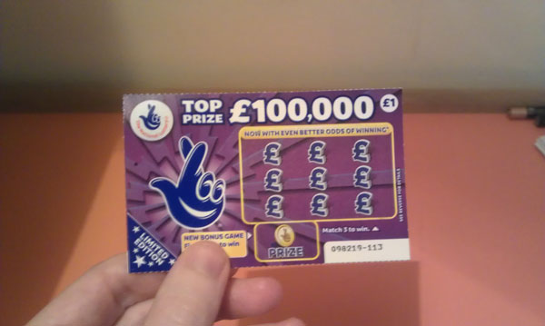 Fake scratch card win money